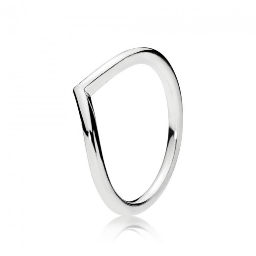 Pandora Polished wishbone Sølvring-31